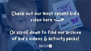 Check out our most recent kid's video here -->