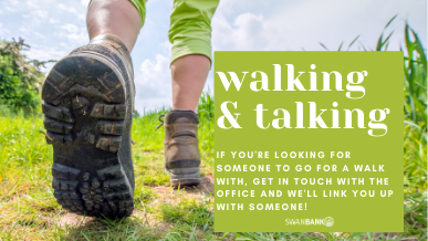Walking & Talking - get in touch to get connected.